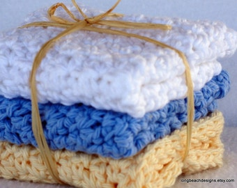 CROCHET PATTERN Gourmet Kitchen Dish Cloth Sets hostess gift, permission to sell finished product