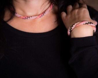 """Beaded Rope Transformer """"BLUSHING FLAMINGO"""" Beaded Bracelet Seed Bead Bracelet Women Bracelet Summer Bracelet Beadwork Bracelet Birthday"""