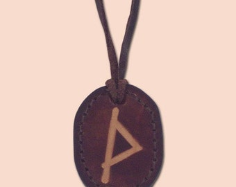 Thurisaz - The Rune of Chaos, Evil and Temptation - Asatru Jewelry - Leather Rune Pendant - Rune Amulet Necklace - Viking Rune Necklace