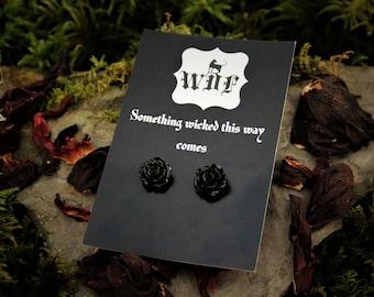 Flora Noir Earrings