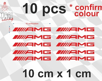 10 x AMG Racing Mercedes Benz C55 C36 Clk SLK300 E55 Cls63 e63 C250 C300 S550 SL550 CLS550 SL550 E350 ML350 Car door handles Decal stickers