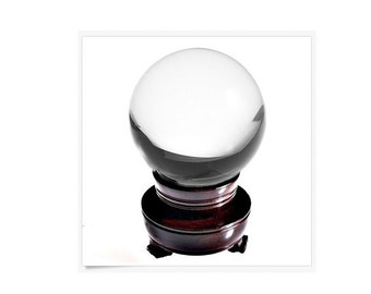 Feng Shui Clear Quartz Crystal Ball 150 MM, Crystal Ball For Attracting Positive Energy, Stimulate Existing Energy Or Tap Higher Inner Power