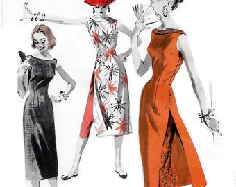 Butterick 7790 Jr. Misses Sheath Dress, Tunic and Pants 50s Sewing Pattern Size 13 Bust 31