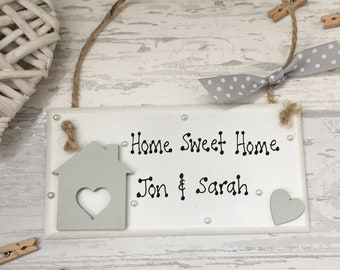 Office Warming Gift. Personalised New Home Plaque, Sweet Home, House Warming  Housewarming Gift