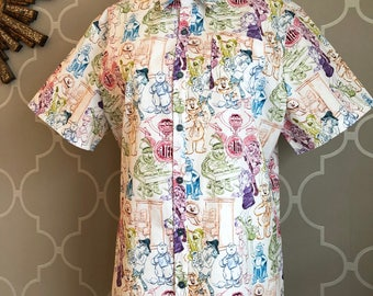 Muppets rainbow connection button down made to order