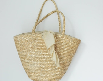 Vintage  straw bag, straw purse, wicker, straw bag, woven straw bag, beach bag, shopper,vintage wicker, fabulous, large