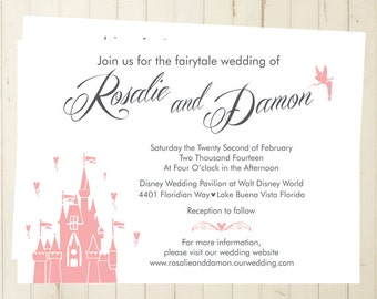 Magic Kingdom Invite Etsy - Wedding invitation templates: disney wedding invitation templates