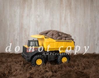 Tonka Truck Newborn Digital Backdrop