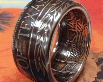 State of Texas 99.99% Pure Silver Coin Ring