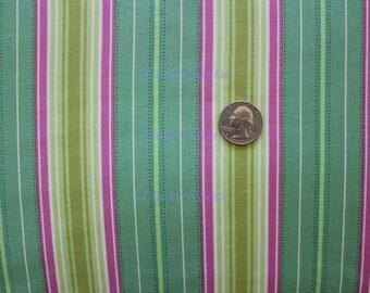 SALE Heather Bailey, Freshcut, Lounge Stripe Turquoise Fabric - Half Yard