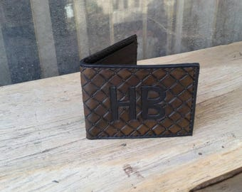 Custom bifold wallet made to order