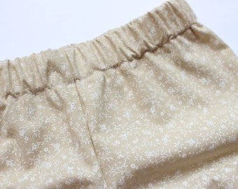 Floral Khaki Bloomers / Bloomers / Baby Bloomers / Cotton Baby Bloomers / Bubble Shorts