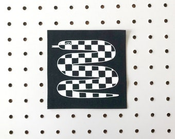 Screenprinted Patch - Checkered Snake