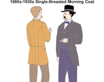 RH923 – 1880s-1930s Single-Breasted Morning Coat