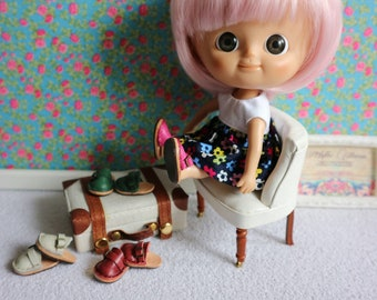 Leather Clogs shoes for Mini Mui Chan