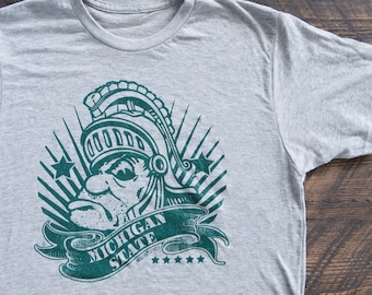 Retro Gruff Money Sparty Michigan State MSU Vintage T-shirt - FREE SHIPPING