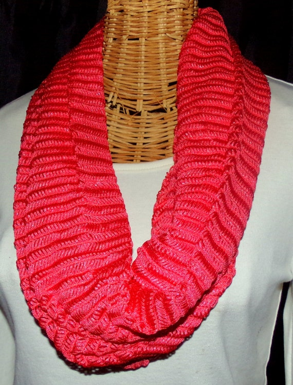 Coral Single Wrap Scarf