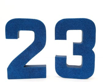 Ready to ship! Navy Blue Glitter Number 2 or 3 - Second Birthday - Third Birthday - Minions Party - Despicable Me Birthday