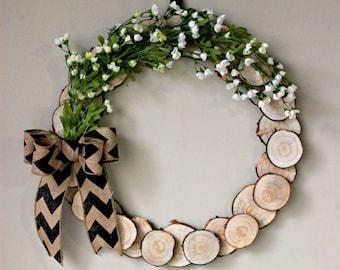 Spring Wood Wreath