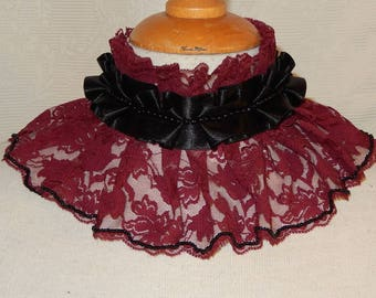 Final sale Gothic victorian red lace choker