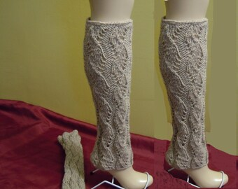 Leg warmers boot womens leg warmers, Knitted Legwarmers, Natural Mix Color or Select Color