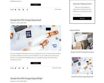 Blog Design WordPress Blog Theme - Watercolor WordPress Design - Blog Design and Installation - WordPress Template - Rochelle - WCPSD 5