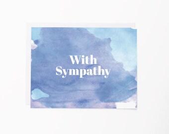 Sympathy Card | Watercolor Greeting Card | Condolences