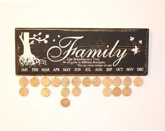 Birthday Board | Family Birthday Sign | Birthday Sign | Family Birthday Board | Family Celebration Board | Birthday Calendar Board | Family