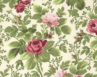 1/2 yd Indigo Rose Bloomfield by Verna Mosquera for FreeSpirit Fabrics PWVM130.VANIL