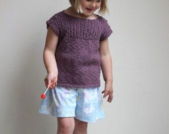 Direct Download PDF Knitting Pattern - Kids Sweater Knitting Pattern - Toddler Sweater Knitting Pattern