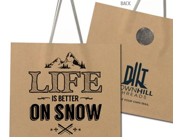 Life Is Better On Snow - Lift Ticket Refrigerator Magnet