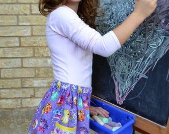 Shopkins  Color me Happy pocket skirt  (2T, 3T, 4T, 5T, 6, 7, 8, 10)