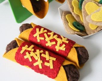 Pretend Food, Felt Food Pretend Play Enchiladas, Mexican Food, Play Kitchen, Play Shop, Cafe Play