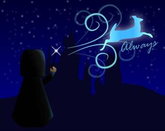 Always - Harry Potter - Severus Snape - Art Print