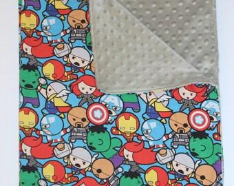 Super Hero / Baby Blanket / Kids Minky Blanket / Baby Minky Blanket / Minky Blanket / Cot blanket minky / Kids Blanket Throw