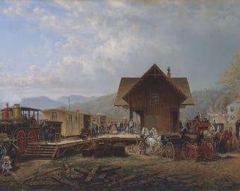 "Edward Lamson Henry - ""The 9:45 Accommodation"" (1867) - Giclee Fine Art Print"