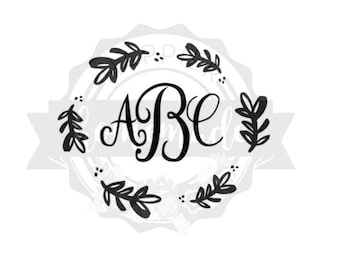 Monogram Vinyl Car Decal Sticker - All sizes and colors available