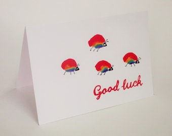 Individual blank greetings card with white envelope.