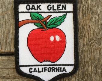 Oak Glen, California Vintage Souvenir Travel Patch