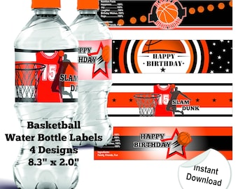 Basketball Water Bottle Label Basketball Bottle Label Basketball Water Bottle Labels Basketball Birthday Party Printable Water Bottle Labels