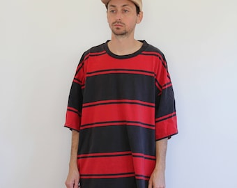 Oversized Striped Tee Mens 2XL