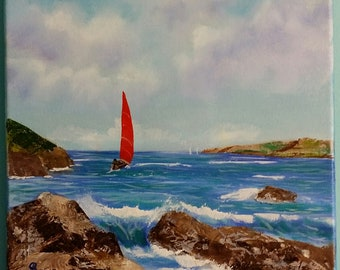 Catching the wind - Original Oil painting by Stephen Poulter
