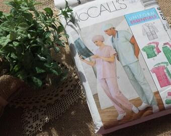 Vintage McMcall sewing pattern,sewing pattern for scrubs,scrubs sewing pattern,uniform sewing pattern, doctor scrubs,nursing scrubs,medical