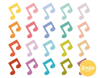 Music Note Clipart Illustration for Commercial Use | 0486