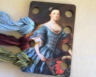 Lady Jane floss organizer wooden embroidery floss sorter thread keep queen lady fancy work