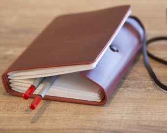 Leather travelbook, Leather journal, Leather diary, Sketch book, Notebook
