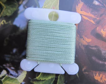 Mint Ice Cream Jewelry String 288 Inches 18 Bead Thread Size .5 Strong Nylon Bead Cording Light Cream Green Cord & More 70 Colors Available