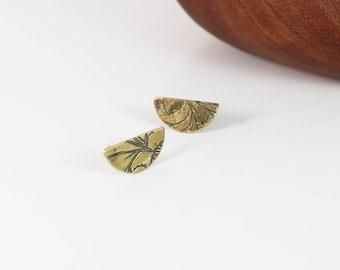 half moon stud earrings | small studs by souvenir handmade