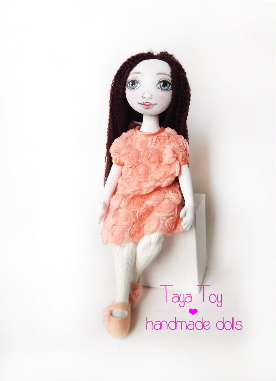 Textil-Puppe Ooak Puppe dekorative Puppe Puppen