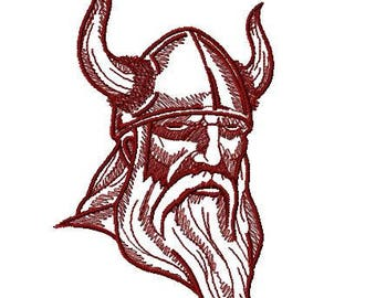 Vikinger Embroidery Design, Instant Download, Fits  5x7 Hoop, PES format and more